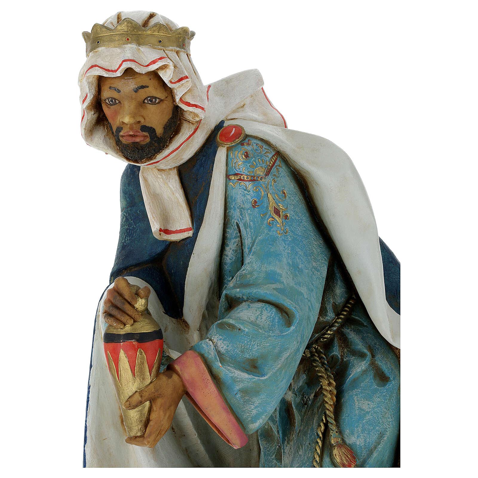 STOCK Heiliger König schwarz Fontanini 65 cm KLEINER MAKEL AN SOCKEL-UNTERSEITE  4