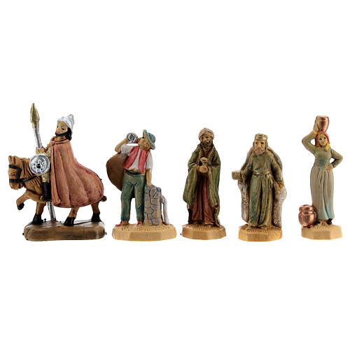 Wooden nativity scene characters 25 pcs 4 cm 5