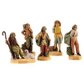 Nativity scene set characters wood effect 25 pcs, 4 cm s3