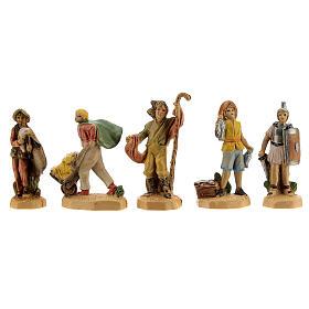 Nativity scene set characters wood effect 25 pcs, 4 cm s4