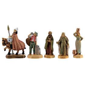 Nativity scene set characters wood effect 25 pcs, 4 cm s5