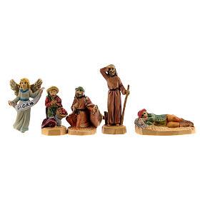 Nativity scene set characters wood effect 25 pcs, 4 cm s6