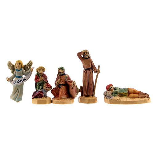 Nativity scene set characters wood effect 25 pcs, 4 cm 6