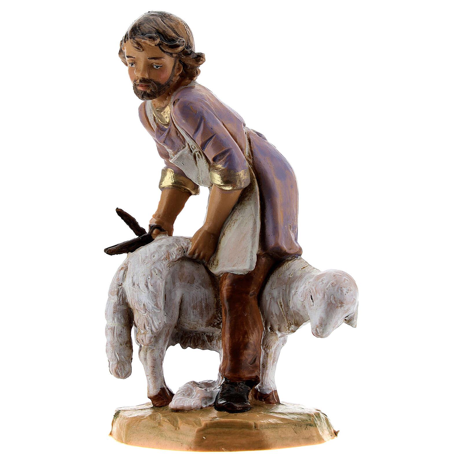 Esquilador ovejas belén Fontanini 12 cm 4
