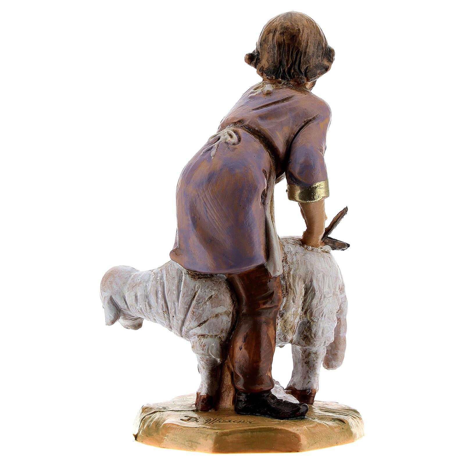 Tondeur de moutons crèche Fontanini 12 cm 4