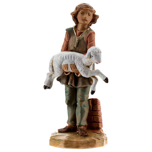 Jeune avec mouton crèche Fontanini 12 cm 1