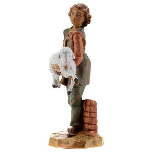 Jeune avec mouton crèche Fontanini 12 cm 2
