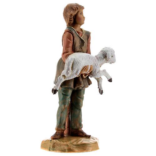 Jeune avec mouton crèche Fontanini 12 cm 3