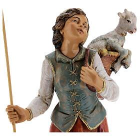 Mujer con cuévano y oveja Fontanini 30 cm s2