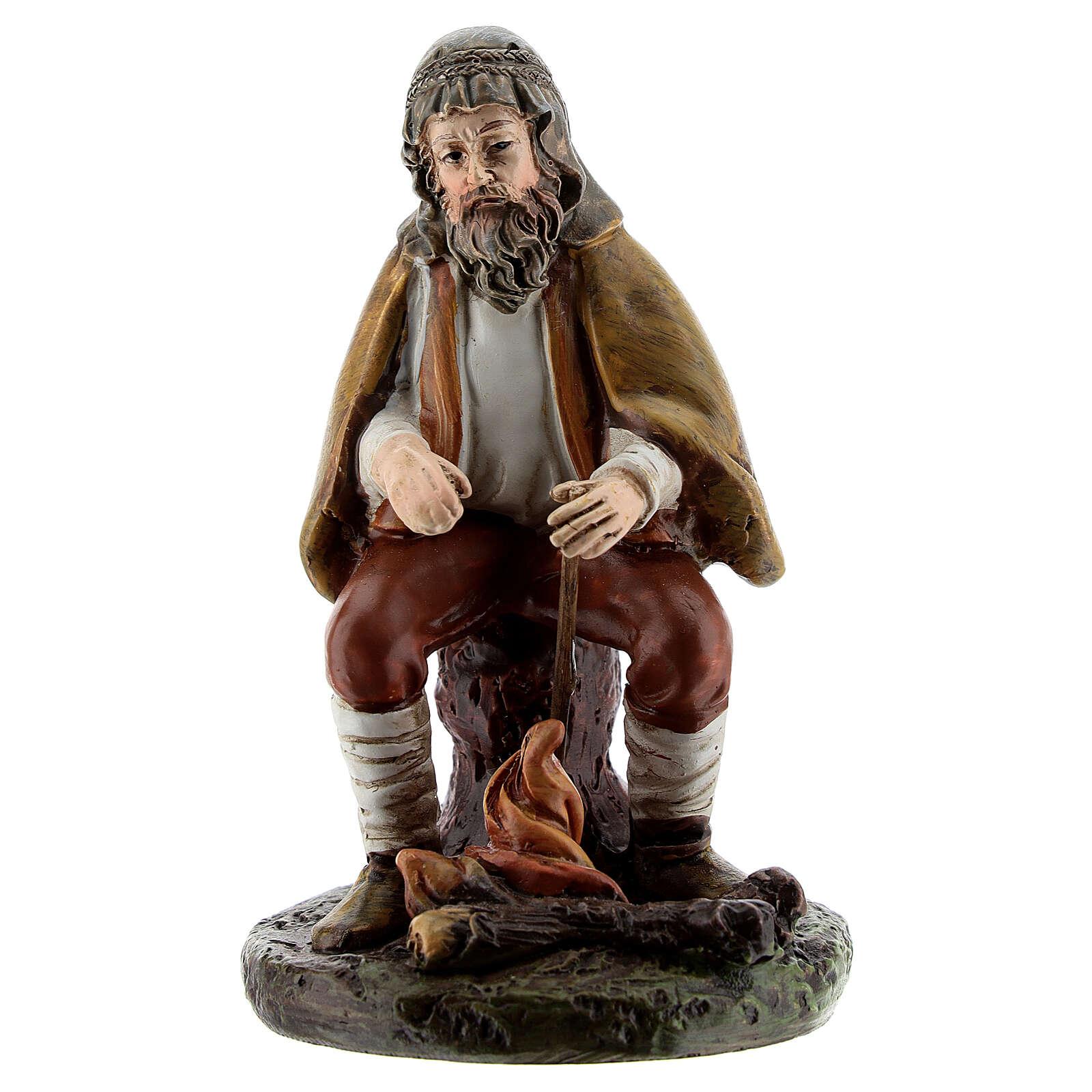 Shepherd with fire, Landi nativity line 10 cm 3
