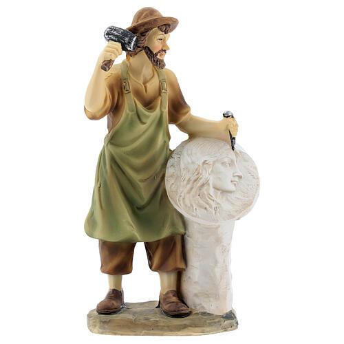 Escultor figura para presépio resina 14 cm 1