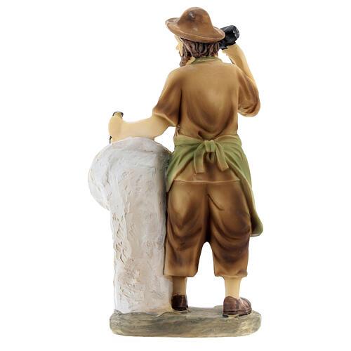 Escultor figura para presépio resina 14 cm 4
