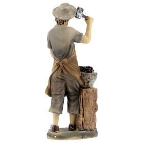 Blacksmith figurine 14 cm nativity s4