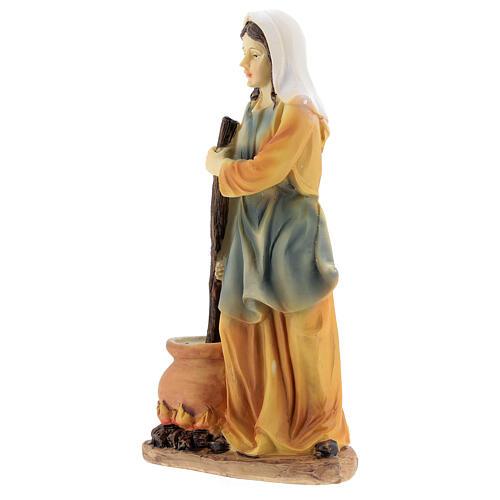 Woman cook statue resin nativity 14 cm 2