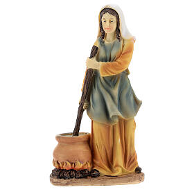 Woman cook statue resin nativity 14 cm s1