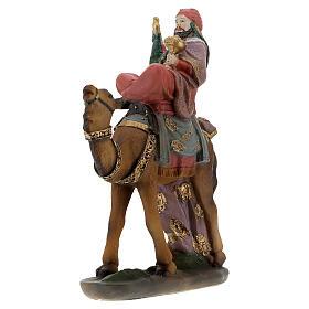 Three King statues on camel 12 cm nativity s3