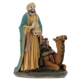 Three King statues on camel 12 cm nativity s6