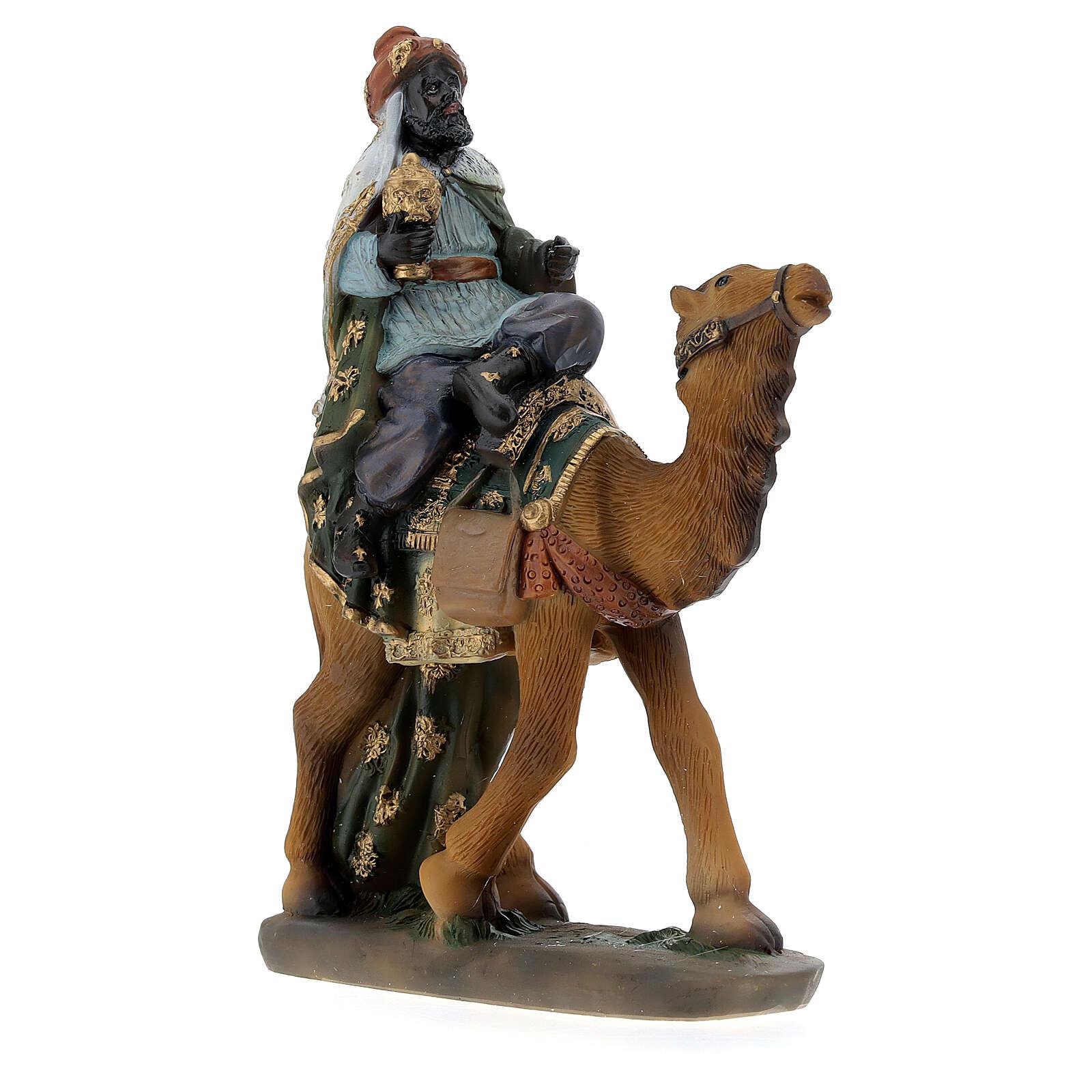 Re Magi con cammello presepe 12 cm 3