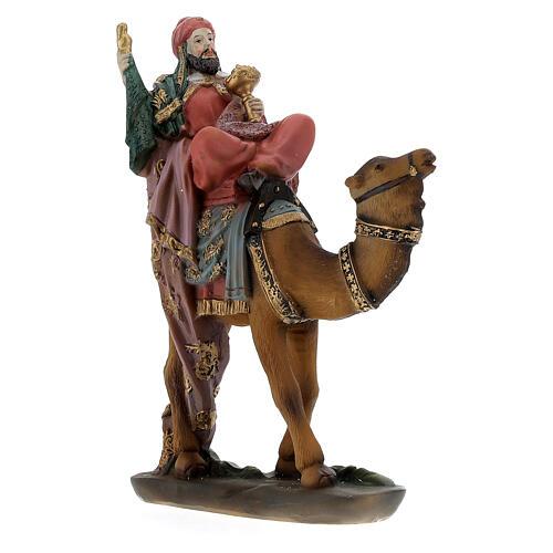 Re Magi con cammello presepe 12 cm 2