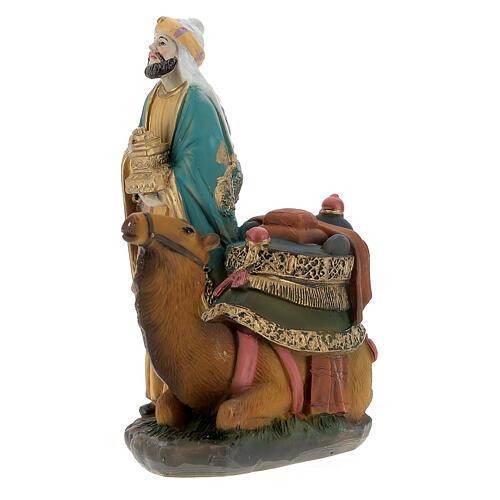 Re Magi con cammello presepe 12 cm 7