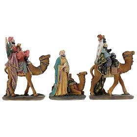Reis Magos com camelo figuras para presépio com figuras altura média 12 cm s1