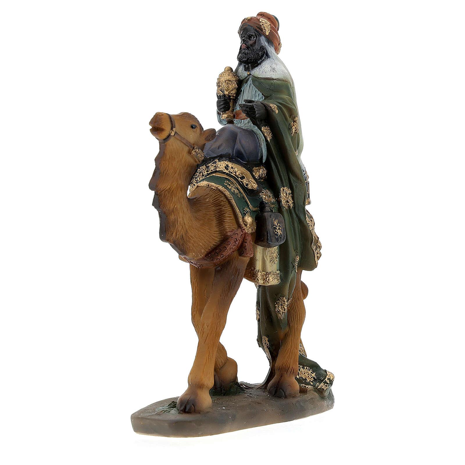 Three King statues on camel 12 cm nativity 3