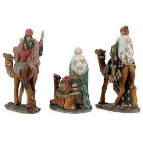 Three King statues on camel 12 cm nativity s8