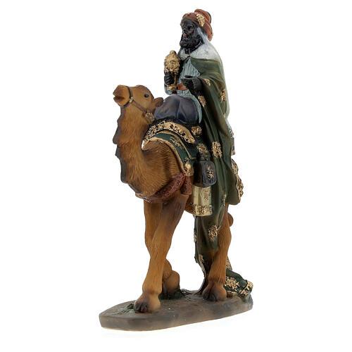 Three King statues on camel 12 cm nativity 5