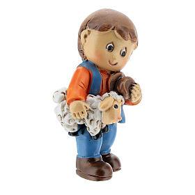 Pastor com ovelha nos braços Presépio para Crianças altura média 4 cm s3
