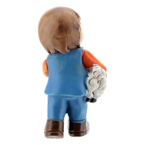 Pastor com ovelha nos braços Presépio para Crianças altura média 4 cm 4