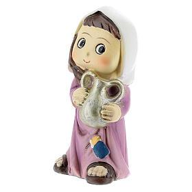 Girl farmer statue with jug 10 cm kids nativity line s2