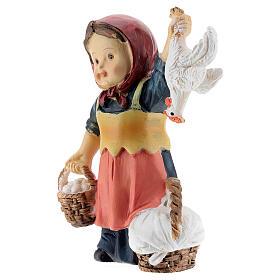 Shepherdess statue with eggs 9 cm kids nativity line s2