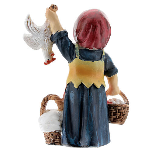 Shepherdess statue with eggs 9 cm kids nativity line 4