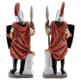Coppia soldati romani presepe 12 cm s4