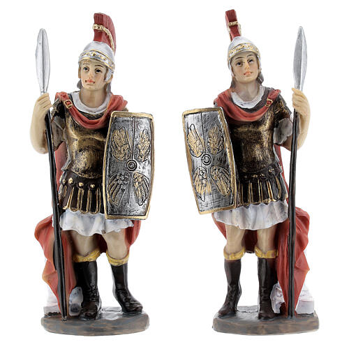 Coppia soldati romani presepe 12 cm 1