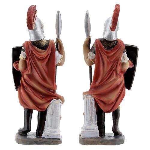 Coppia soldati romani presepe 12 cm 4