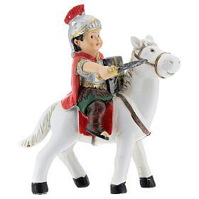 Soldado a cavalo resina Presépio para Crianças altura média 9 cm s1