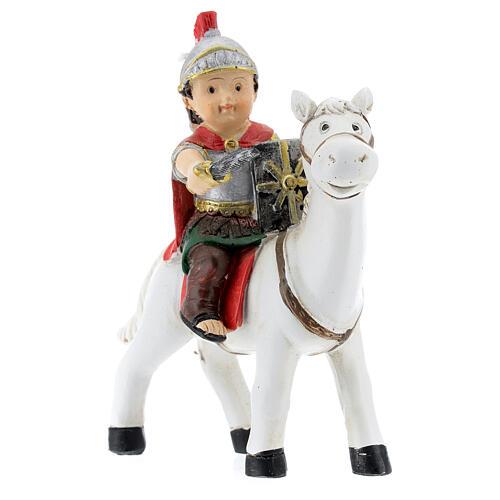 Soldado a cavalo resina Presépio para Crianças altura média 9 cm 2