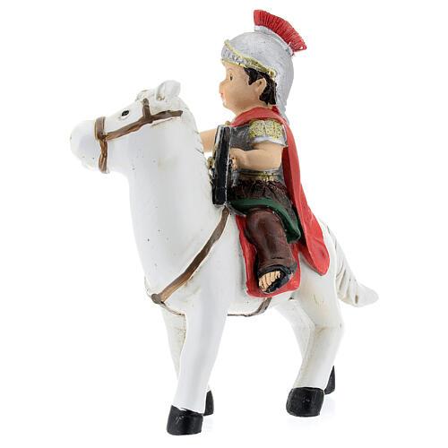 Soldado a cavalo resina Presépio para Crianças altura média 9 cm 3