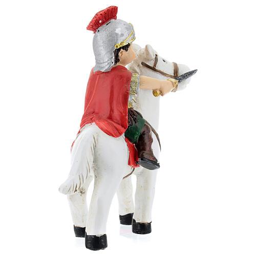 Soldado a cavalo resina Presépio para Crianças altura média 9 cm 4