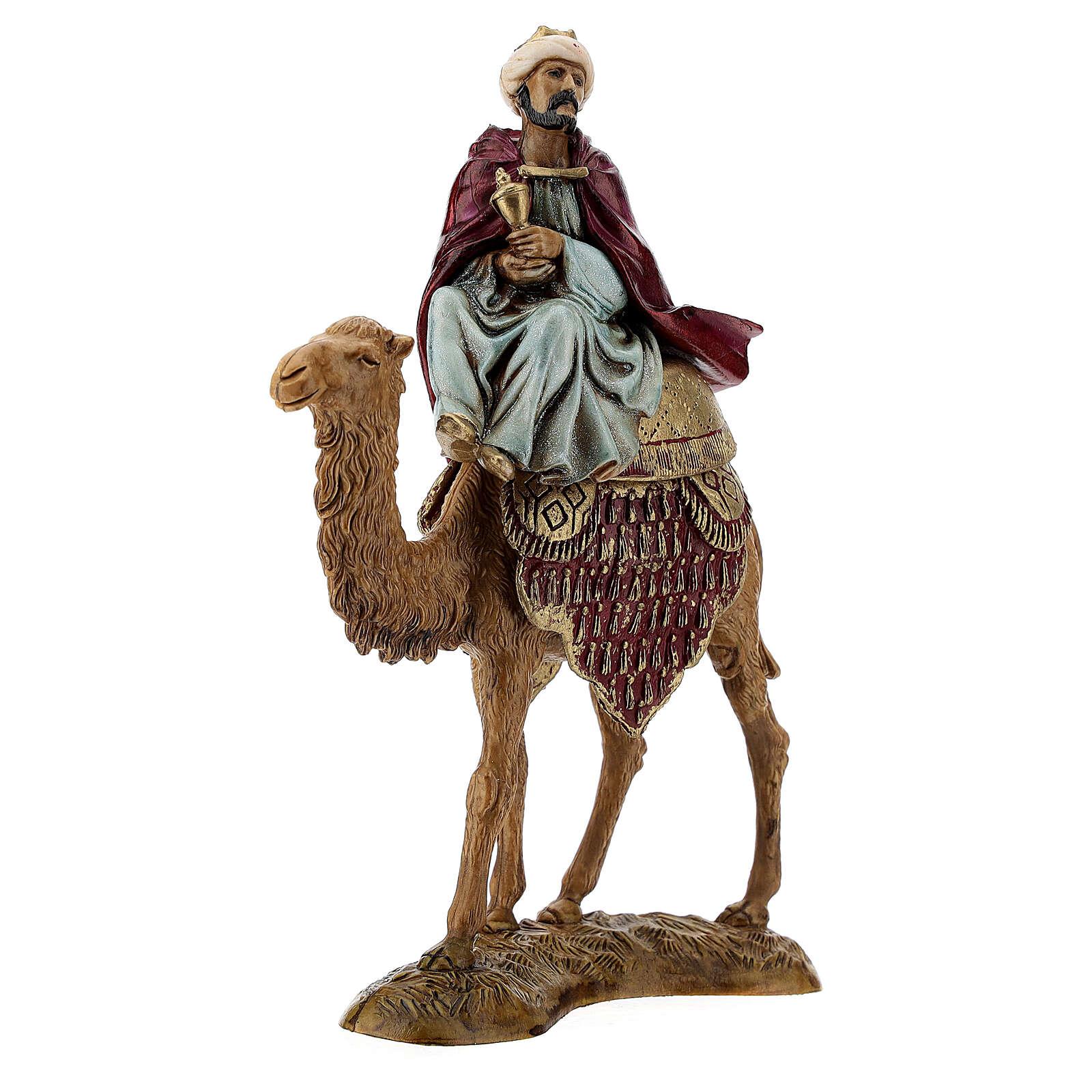 Three Kings with camel for Moranduzzo 18th-century-style Nativity scene 10 cm 4