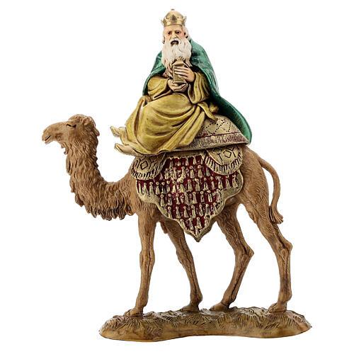 Three Kings with camel for Moranduzzo 18th-century-style Nativity scene 10 cm 3