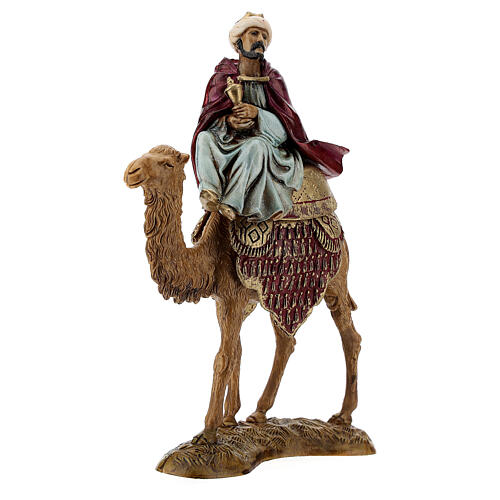Three Kings with camel for Moranduzzo 18th-century-style Nativity scene 10 cm 5