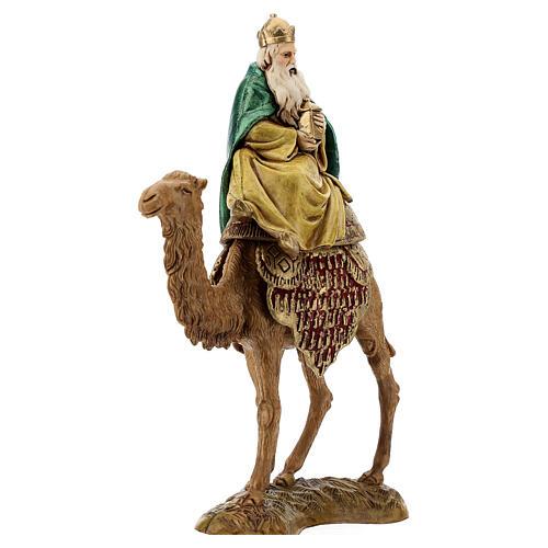 Three Kings with camel for Moranduzzo 18th-century-style Nativity scene 10 cm 6