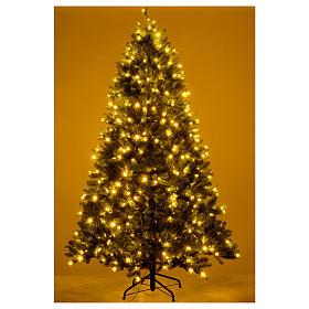 Albero di Natale 210 cm Poly verde memory shape luci Bluetooth s6