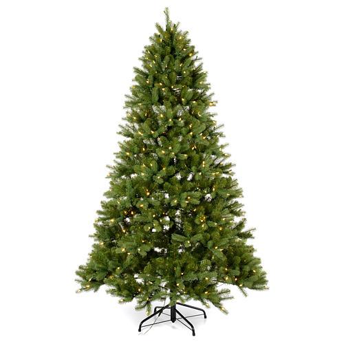 Albero di Natale 210 cm Poly verde memory shape luci Bluetooth 1
