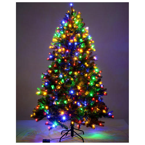 Albero di Natale 210 cm Poly verde memory shape luci Bluetooth 2