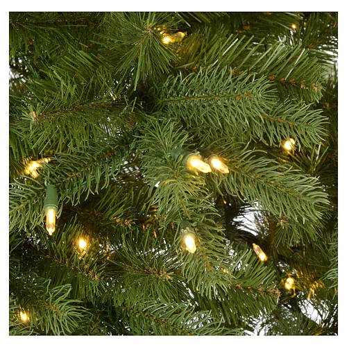 Albero di Natale 210 cm Poly verde memory shape luci Bluetooth 4