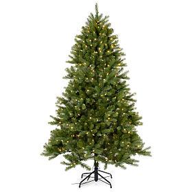 Árvores de Natal: Árvore de Natal 210 cm Poly verde memória de forma luzes Bluetooth
