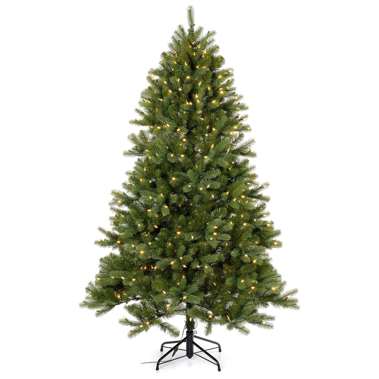 Árbol de Navidad 225 cm verde Poly Memory Shape luces Bluetooth 3